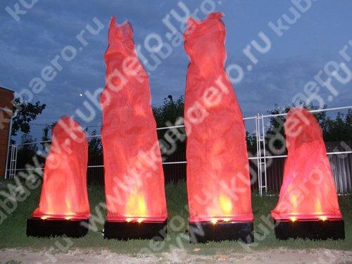 Имитация пламени и аэрофонтаны